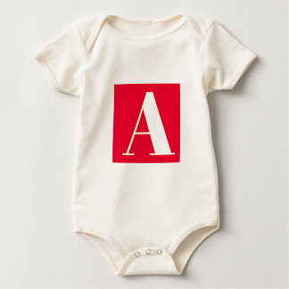 Bright and Elegant Alphabet Monogram Baby Bodysuit