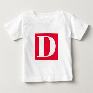 Bright and Elegant Alphabet Monogram Baby T-Shirt