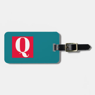Bright and Elegant Alphabet Monogram Bag Tag