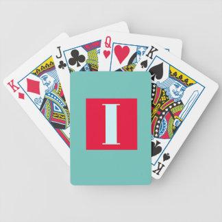 Bright and Elegant Alphabet Monogram Bicycle Playing Cards