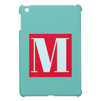Bright and Elegant Alphabet Monogram Case For The iPad Mini
