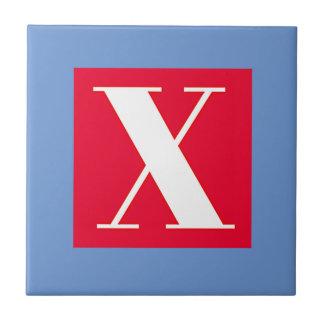 Bright and Elegant Alphabet Monogram Ceramic Tile