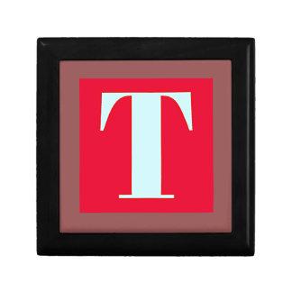 Bright and Elegant Alphabet Monogram Gift Box