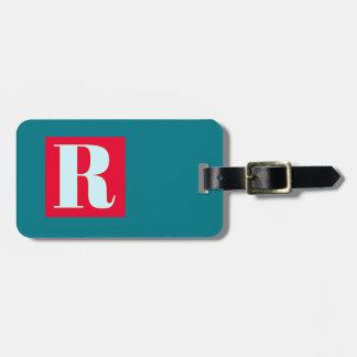 Bright and Elegant Alphabet Monogram Luggage Tag