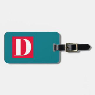 Bright and Elegant Alphabet Monogram Luggage Tag