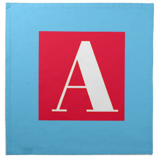 Bright and Elegant Alphabet Monogram Napkin