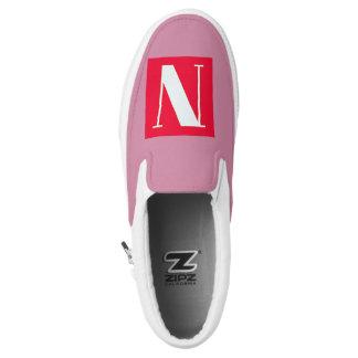 Bright and Elegant Alphabet Monogram Slip-On Shoes
