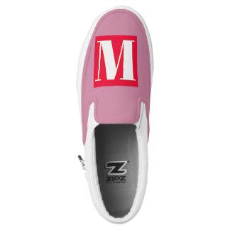 Bright and Elegant Alphabet Monogram Slip On Shoes