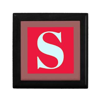 Bright and Elegant Alphabet Monogram Small Square Gift Box