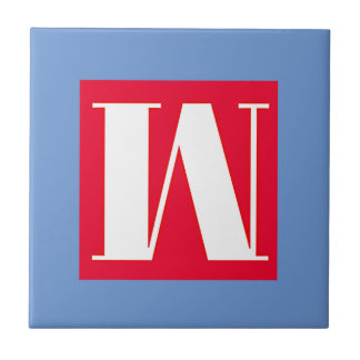 Bright and Elegant Alphabet Monogram Tile