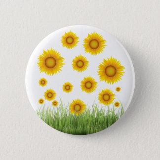Bright and Elegant Sunflower Graphic Design 6 Cm Round Badge