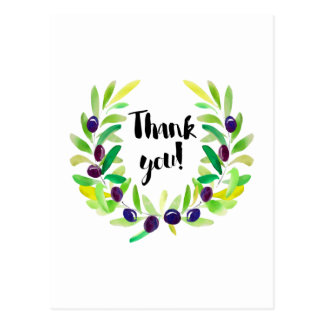Bright and Fresh Thank You Postcard