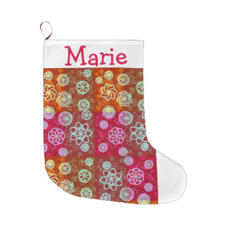 Bright and Merry Customizable Large Christmas Stocking
