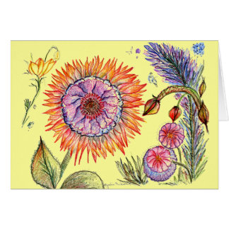 Bright and Strong Botanical Card