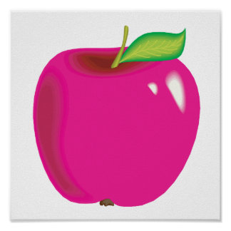 bright apple poster