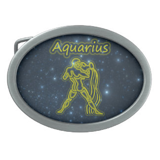 Bright Aquarius Oval Belt Buckles