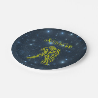 Bright Aquarius Paper Plate