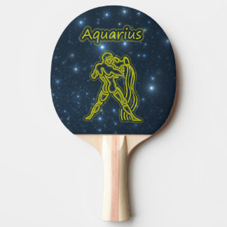 Bright Aquarius Ping Pong Paddle