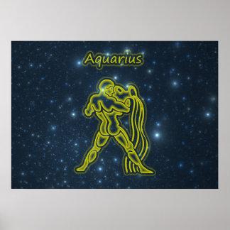 Bright Aquarius Poster