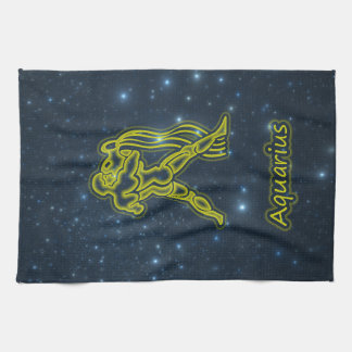 Bright Aquarius Tea Towel