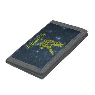 Bright Aquarius Tri-fold Wallet