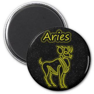 Bright Aries 6 Cm Round Magnet