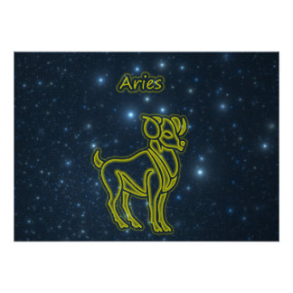 Bright Aries Poster