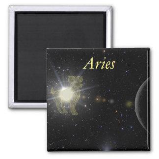 Bright Aries Square Magnet