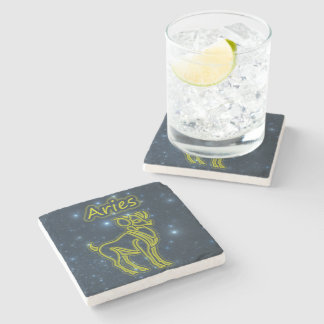 Bright Aries Stone Coaster