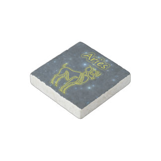 Bright Aries Stone Magnet