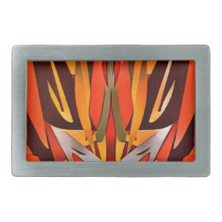 Bright Artistic Flaming Sword Abstract Belt Buckle