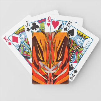 Bright Artistic Flaming Sword Abstract Bicycle Playing Cards