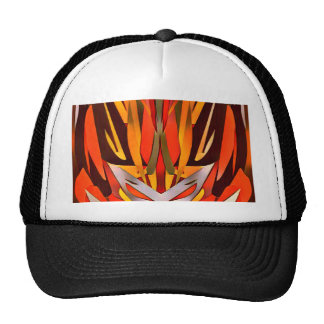 Bright Artistic Flaming Sword Abstract Cap