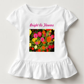 Bright as Flowers Pink Toddler Ruffle Tee