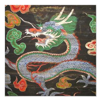 Bright Asian Dragon Chinese New Year 13 Cm X 13 Cm Square Invitation Card