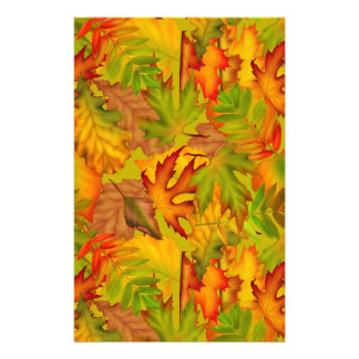 Bright Autumn Leaves Scrapbook Paper