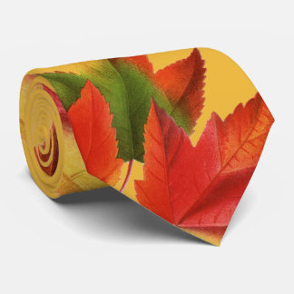 Bright Autumn Leaves Tie