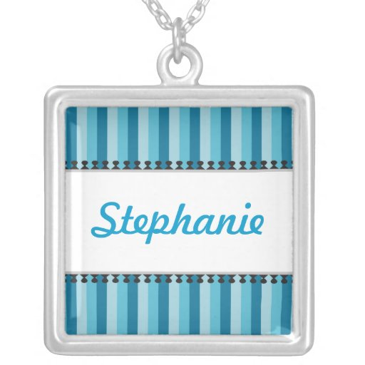 Bright Awnings Blue Name Necklace