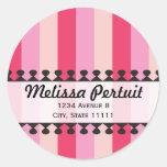 Bright Awnings Pink Address Sticker