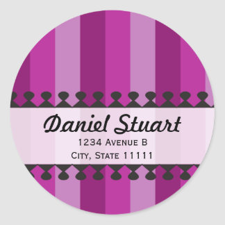 Bright Awnings Purple Address Sticker
