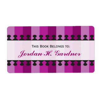 Bright Awnings Purple Bookplates