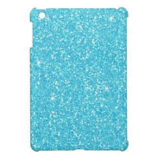 Bright Baby Blue Faux Glitter iPad Mini Covers