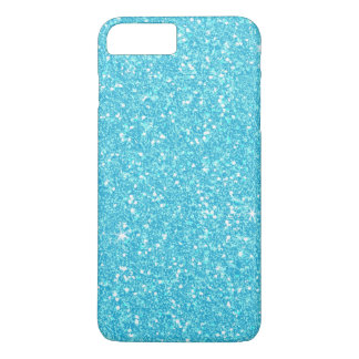 Bright Baby Blue Faux Glitter iPhone 7 Plus Case