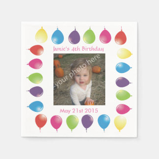 bright balloons customizable serviettes napkins disposable serviette