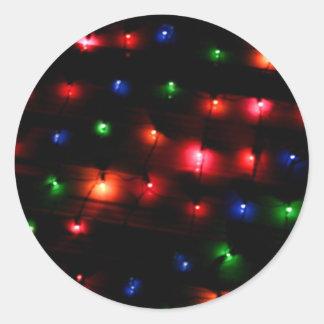 Bright Balls of Holiday Lights Classic Round Sticker