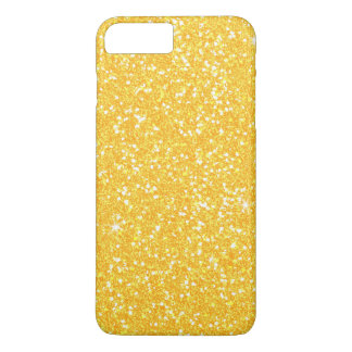 Bright Banana Yellow Faux Glitter iPhone 7 Plus Case