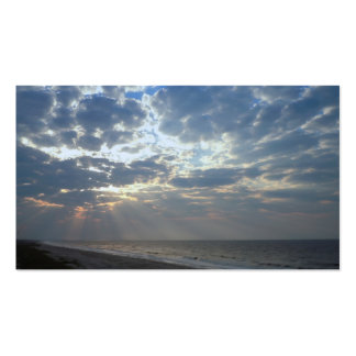 Bright Beach Morning - Oak Island, NC Double-Sided Standard Business Cards (Pack Of 100)