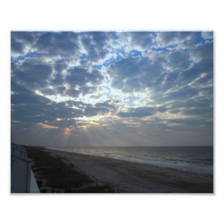 Bright Beach Morning - Oak Island, NC Photo Print
