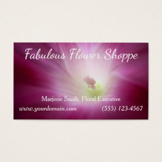Bright Beautiful Magenta Pink Morning Glory Custom Business Card