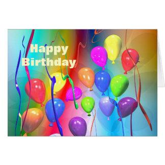Bright Birthday Balloons Card